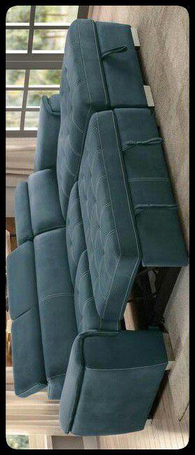 🆒Homelegance🆒 Ferriday Blue Storage Sleeper Sectional for Sale in Fairfax, VA