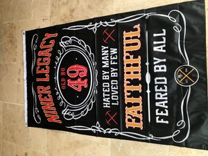 Niners 49ers Jack Daniels Special Empire Banner for Sale in Clovis, CA