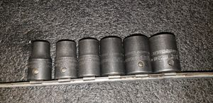 Snap on SAE 1/2 DRIVE IMPACT SOCKETS 12PT. 7/16 TO 3/4 6PCS. for Sale in Los Angeles, CA