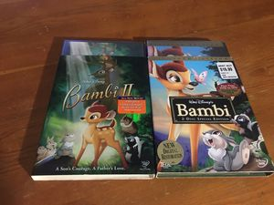 New Disney movies. Bambi and Bambi 2 for Sale in Mesquite, TX