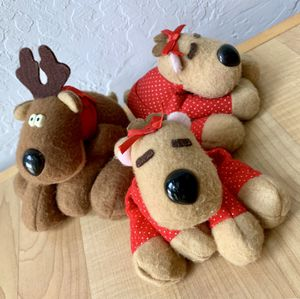 Vintage 80s Hallmark Greetings Collectable Reindeer Plush Toy Lot of 3 Romona & Rodney for Sale in Elizabethtown, PA