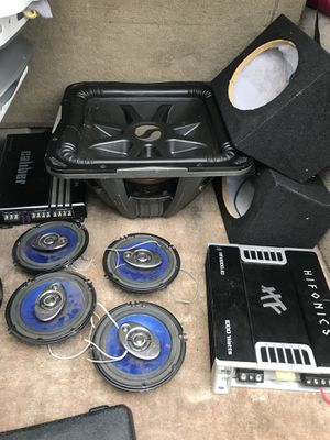 """15"""" kicker 2 amps 2 6x9 boxes 4 speakers for Sale in San Marino, CA"""