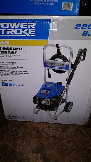 Power stroke pressure washer 2200 psi brand new in the box paid 258 dollars will sacrifice for 125 for Sale in Rialto, CA