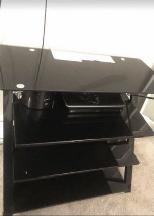 Glass tv stand for Sale in Lakewood, CO