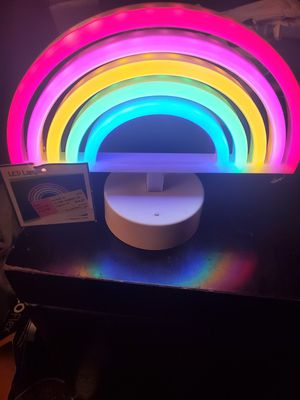 Rainbow battery operated lamp for Sale in Gastonia, NC