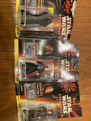 Star Wars episode 1 collectors rare action figures and Darth Maul toy for Sale in San Diego, CA