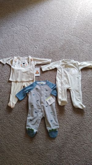 3 New Beautiful Baby Boy Clothes , sizes 3 - 6 ( new with tag ) price for all for Sale in Frederick, MD