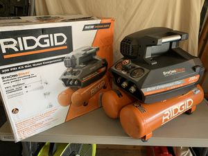 RIDGID 4.5 Gal. Portable Electric Quiet Air Compressor (dewalt) - used IN BOX - great condition for Sale in Spring, TX
