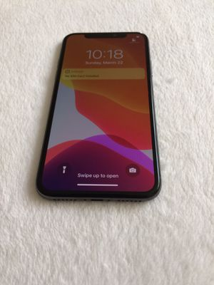 iPhone X,64gb T-Mobile/metro/unlocked $410 firm no trade, Nothing wrong with it for Sale in Sacramento, CA