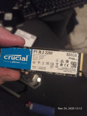 Crucial 500 gig nvme m.2 ssd for Sale in Grants Pass, OR