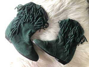 Green fringe boots for Sale in Chicago, IL
