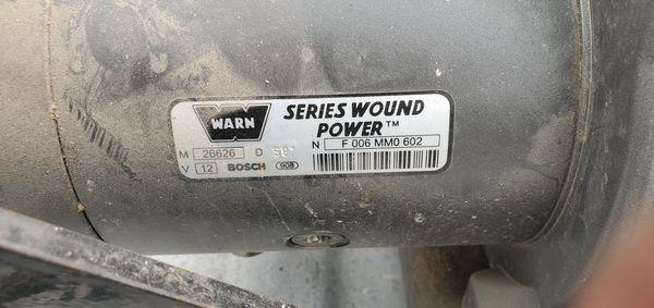 Warn xd9000i winch w hitch mount