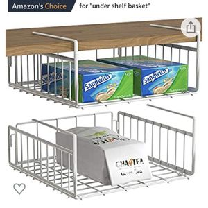 Brand New White Under Shelf Baskets for Storage for Sale in Olympia, WA