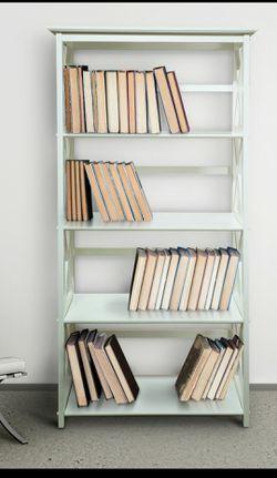 Montego 5-Shelf Bookcase - White for Sale in Houston,  TX