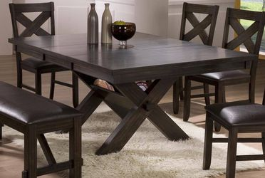 NEW KELLY DINING TABLE WITH FOUR CHAIRS AND BENCH . ONLY $499. NO CREDIT CHECK OR ONE YEAR DEFERRED INTEREST FINANCING AVAILABLE XS for Sale in Brandon,  FL