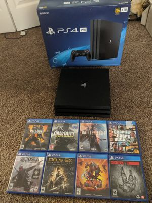 Ps4 pro with 8 games 1 controller for Sale in Pinellas Park, FL