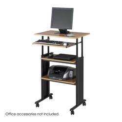 Muv? Stand-up Adjustable Height Desk, Medium Oak for Sale in Wilmington,  DE