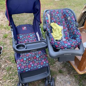 Baby Stroller And Carseat (shampooed) for Sale in Houston, TX