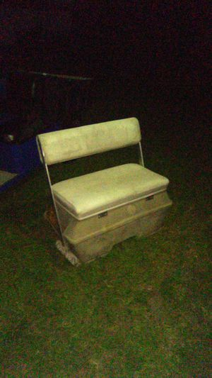 Boat Cooler seat/ storage seat for Sale in Lithia, FL