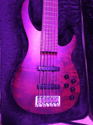 Custom Rogue 6 string active bass guitar with hardcase for Sale in Portland, OR
