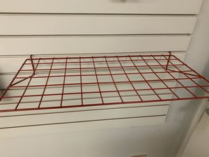 "Wire Slatwall Shelf RED 24"" L x 12"" D (lot of 6) for Sale in Naperville, IL"