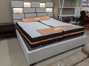 King Size Platform Bed With LEDs And USB Ports for Sale in Springdale, AR