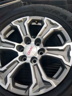 2020 NEW OEM tires and wheels Chevy rines originales de GMC sierra AT4 en perfectas condiciones llantas Goodyear duratrac 265/65/R18 nuevas $945 for Sale in Phoenix, AZ