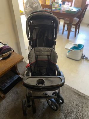 Double stroller and baby booster seat for Sale in Dallas, TX