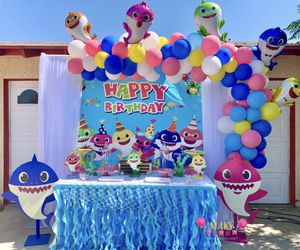 Babyshark Birthday Party Set up Decoration Balloons for Sale in Menifee, CA