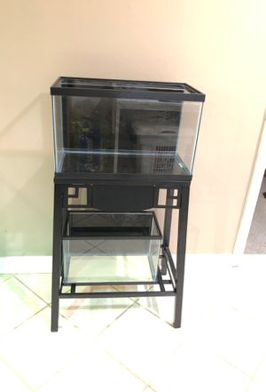 Ten and five gallon aquariums with double stand for Sale in Glenn Dale, MD
