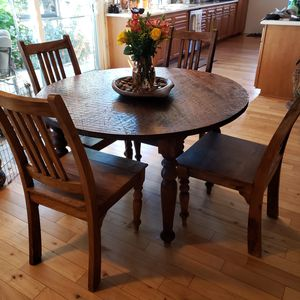 Wood Kitchen Table & 4 Chairs for Sale in Poway, CA
