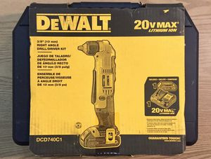 Dewalt 20v Right Angle Drill/Driver Kit Battery Charger for Sale in Haverhill, MA