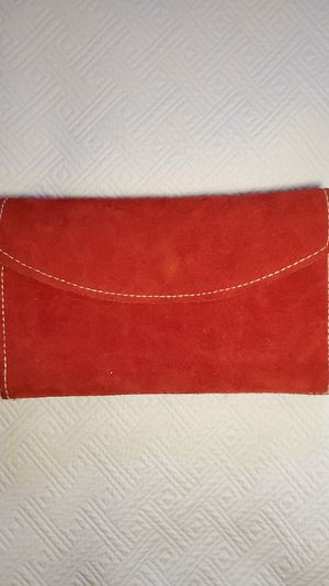 Brand New Very Cute Red Suede Leather Wallet for Sale in Middleburg Heights, OH