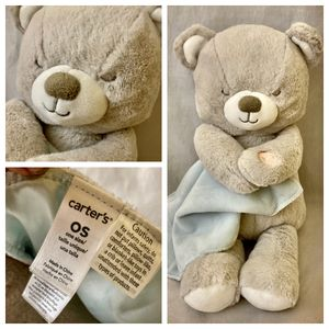 """11"""" Carter's Cuddly Lullaby Soother Bear Plush Lovey for Sale in Mesa, AZ"""