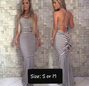 Women Sleeveless Backless Striped Formal for Sale in Wilton, CA
