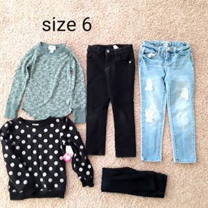 Lot of clothes girl size 6 jeans sweater for Sale in Phoenix, AZ