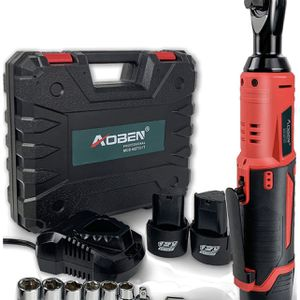 """Cordless Electric Ratchet Wrench Set, AOBEN 3/8"""" 12V Power Ratchet Tool Kit With 2 Packs 2000mAh Lithium-Ion Battery And Charger for Sale in Murrieta, CA"""