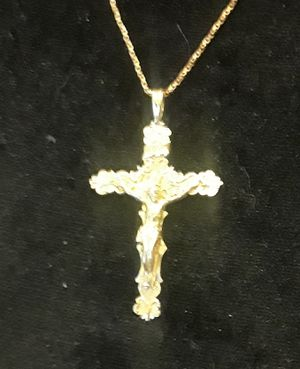 14K Gold Cross & 14K gold Chain for Sale in Anaheim, CA