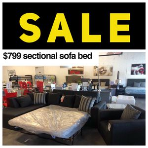 Grey 2PC Sectional Sofa Bed 💥 for Sale in Miami Springs, FL