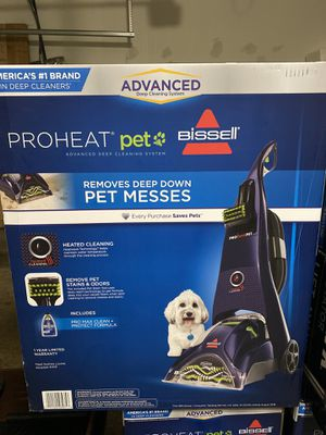 Bissell Carpet Cleaner ProHeat Pet Advanced Pet Stain Remover Rug Cleaner Pets for Sale in Plainfield, IL