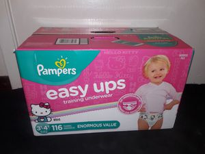 Pampers Easy Ups Girls 3t-4t (116 count) for Sale in Garland, TX