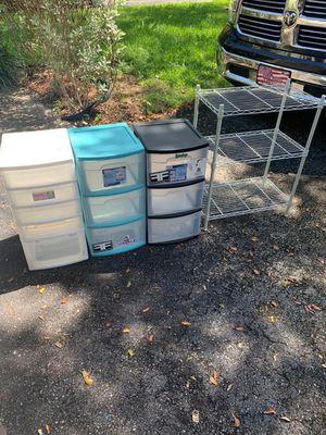 Plastics drawers and shelf for Sale in Tamarac, FL