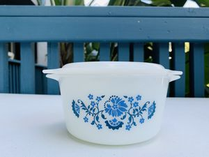 Vintage Pyrex blue floral 473 casserole dish for Sale in Fountain Valley, CA