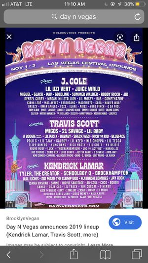 DAY N VEGAS TICKET for Sale in Jurupa Valley, CA