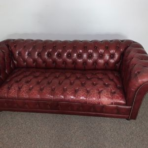 Red Leather Sofa for Sale in Columbia, MD