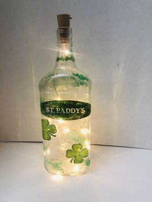St Patricks day lighted bottle for Sale in Aurora, OH