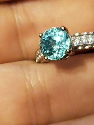 14kt Gold, Aquamarine and diamonds ring 6.25 for Sale in Plantation, FL