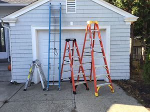 First and third ladders remain for sale. 75 dollars must take both. Cash only please. for Sale in Pawtucket, RI