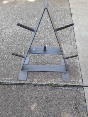 Weight Plate Tree Stand Holder for Sale in Parma, OH