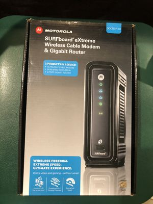 Motorola Wireless Cable Modem Gigabit Router for Sale in Concord, CA